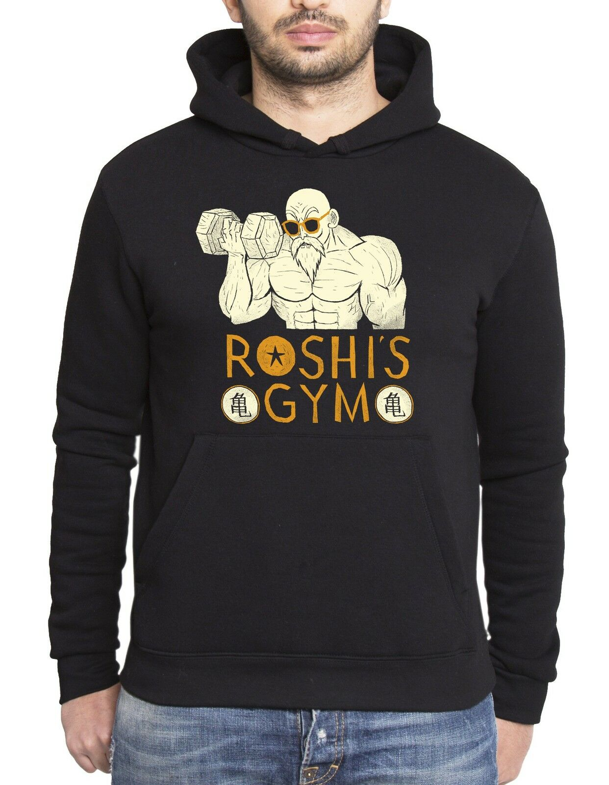 Roshis Gym Herren Hoodie Goku Dragon Master Son Ball Vegeta Turtle Roshi Db