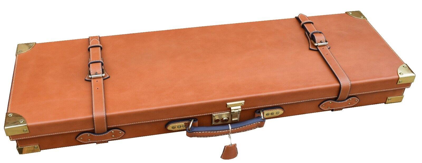 Bronceado, OAK, latón, GUARDIAN Cuero Funda de escopeta Double Barrel, caso de pistola, culata de 1
