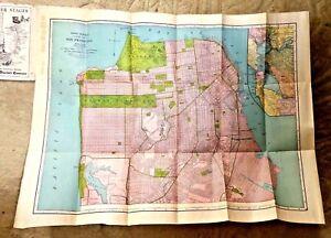 VINTAGE LOVELY SAN FRANCISCO CA PARCEL MAP RAND MCNALLY 1920S eBay