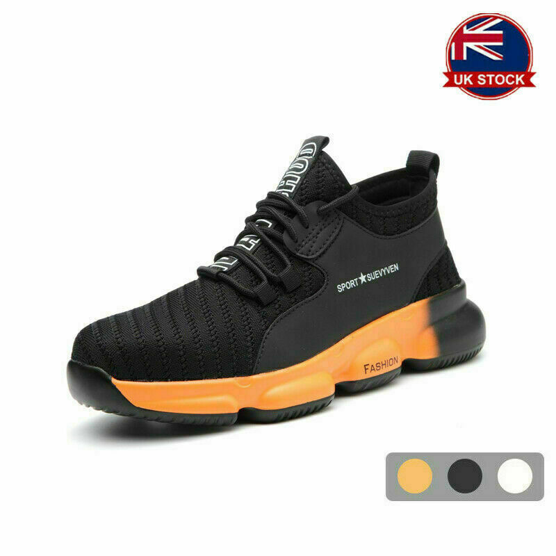 NEW MEN WOMEN LIGHTWEIGHT SAFETY SHOES STEEL TOE CAP WORK BOOTS TRAINERS HIKING!