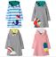 2020 Neu Mädchen Kleid mit Kapuze Langarm Kinder Kleidung Lässig Kleid Herbst DE