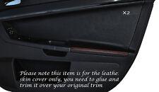 Cuciture color arancio 2x ANTERIORE PORTA CARD Trim pelle copertura Si Adatta Mitsubishi Lancer Evo X 10