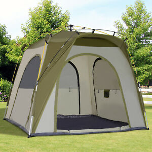 Automatic Camping Tent Travel Beach Tent Backpacking Dome Shelter 2-5 Person