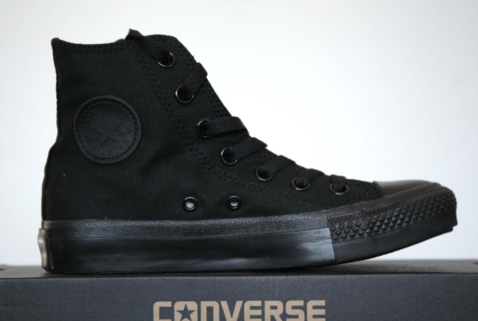 Neu All Star Converse Chucks HI Can Punk Mono Schwarz Schuhe M3310 Gr.36 UK 3,5