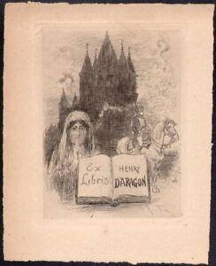 Ex Libris - Albert Robida. Henry Daragon. Eau Forte Vers 1900. Napoléon A1nxhn9r-07220657-855519692