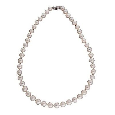 Vintage High Lustre Chinese Fresh Water 18 In 8.5-9.5mm Cultured Pearl Necklace