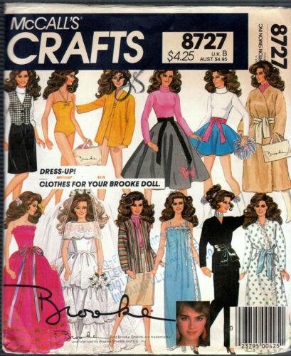"McCall's 8727 Brooke Shields 11½"" Fashion Doll Pattern New or Cut"