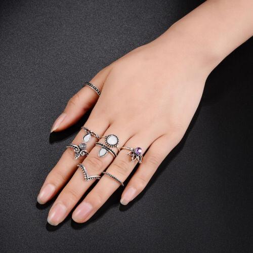 12pcs Silver//Gold Boho Stack Plain Above Knuckle Ring Midi Finger Rings Set Gift