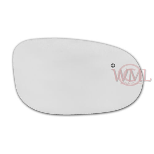 FORD KA 2009-/>2016 DOOR//WING MIRROR GLASS SILVER,NON HEATED /& BASE,RIGHT SIDE