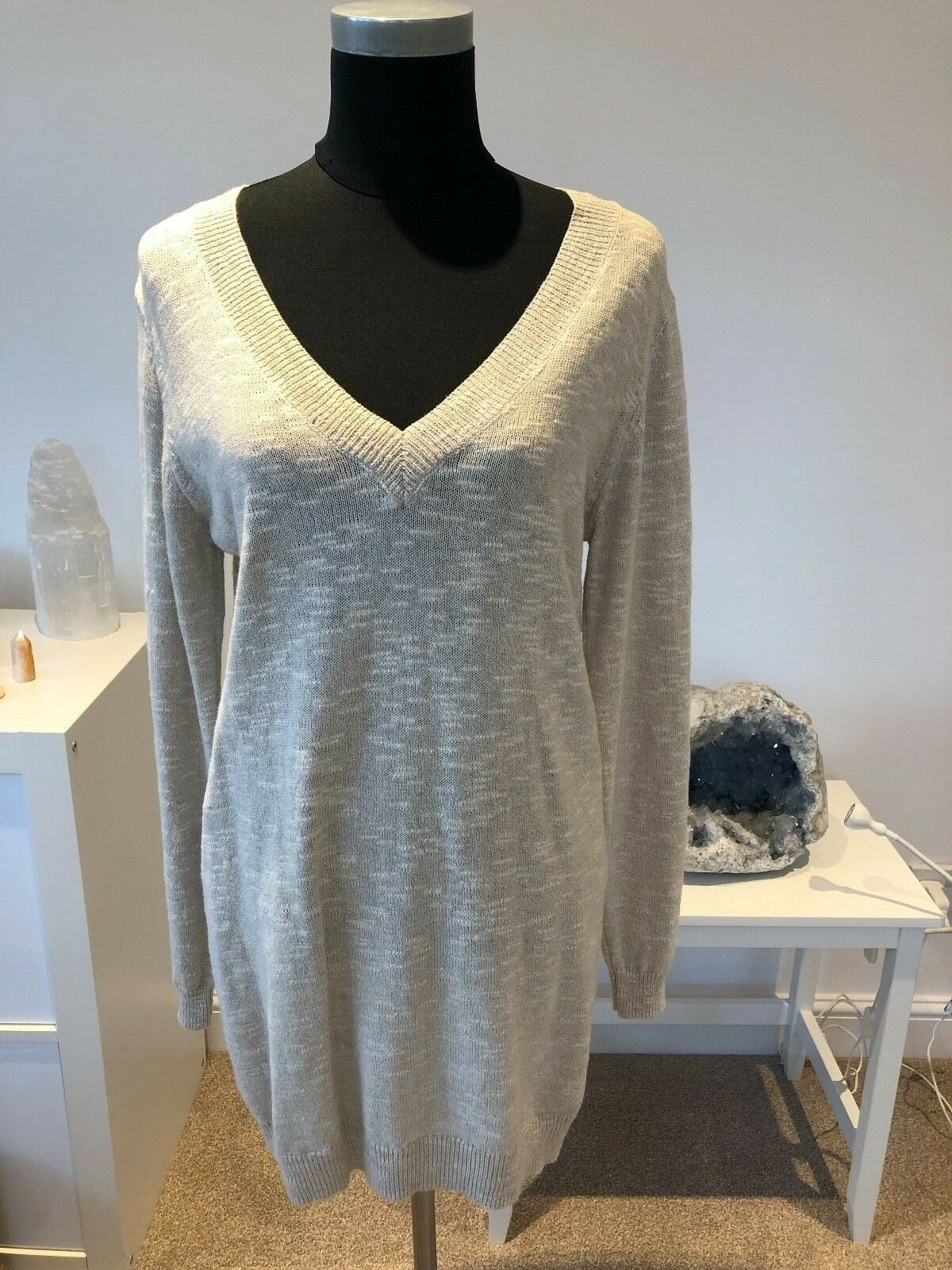 BNWOT Ilse Jacobsen ladies ivory cream jumper sweater S M