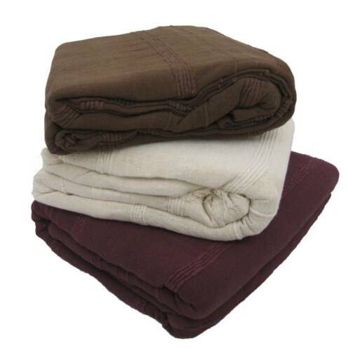 100/% Cotton Handmade SOFA BED THROW in 3 Colours /& 5 Sizes Giant Jumbo Size