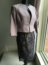 LK Bennett Charris Lace Dress & Vanda Jacket Bolero Wedding Suit Size 10 EUR 38