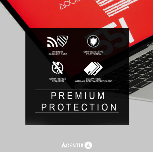 ACENTIX RFID Blocking Card Contactless Protection Signal Blocker Wallet Credit