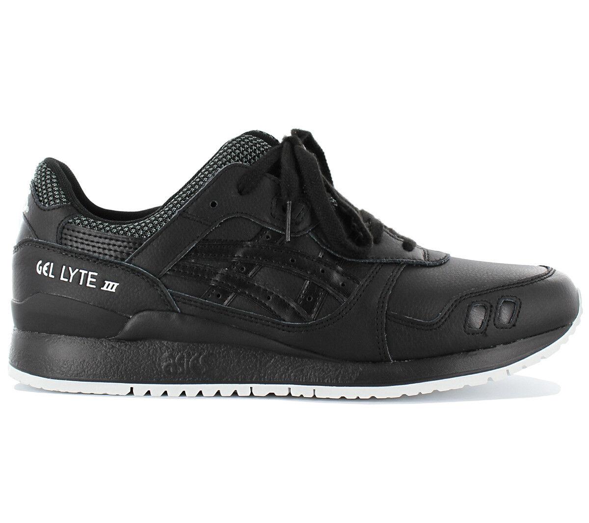 Asics Tiger Gel-Lyte III Herren Sneaker Schuhe Leder Schwarz Freizeit HL701-9090