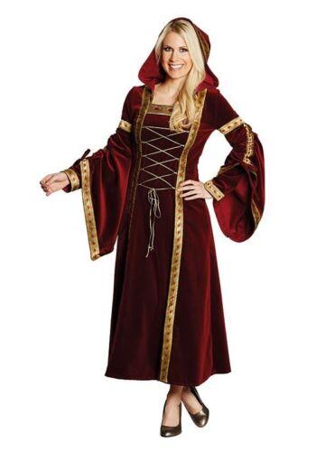 König Arthur Marianne Burgdame Kostüm Deluxe Mittelalter Karneval Fasching  DFK1