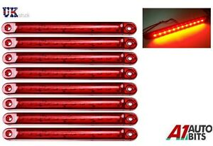8x-12-24V-SMD-LED-RED-SIDE-TAIL-MARKER-LIGHTS-LAMPS-POSITION-TRUCK-TRAILER-LORRY