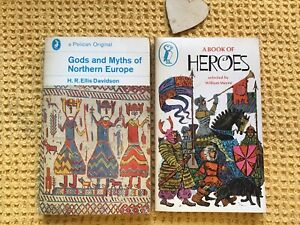 VINTAGE-70s-PUFFIN-A-BOOK-OF-HEROES-amp-GODS-amp-MYTHS-OF-NORTHERN-EUROPE-VIKINGS