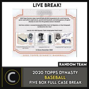 2020-TOPPS-DYNASTY-BASEBALL-5-BOX-FULL-CASE-BREAK-A984-RANDOM-TEAMS