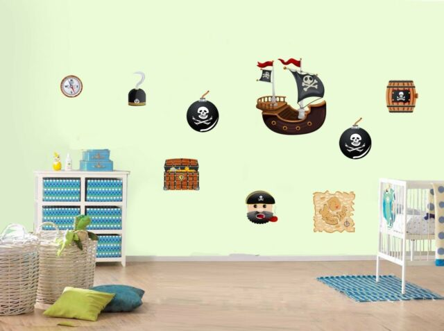 Pirate Ship Pirates Caribbean Style Childrens Nursery Wall Stickers