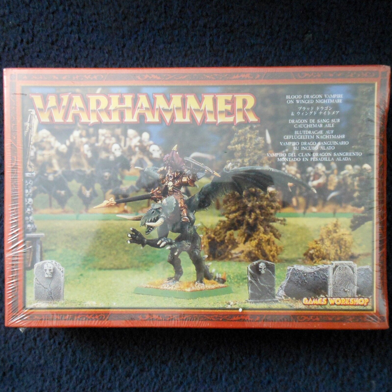2001 Undead Blood Dragon Vampire on Winged Nightmare Citadel Warhammer Army MIB