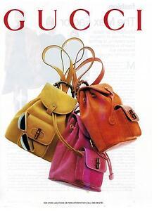 Image Is Loading 1994 Gucci Fashion Bags Magazine Print Ad