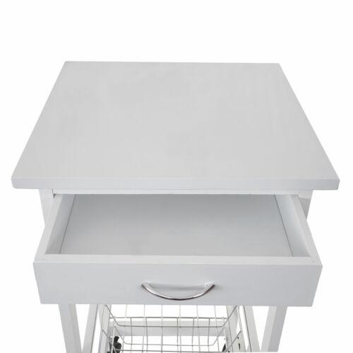 76x37x37cm Bianco Carrello hwc-b69 vagone carrello carrello da cucina cassetto