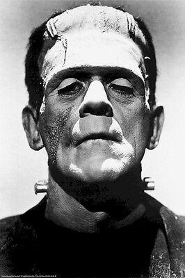 FRANKENSTEIN 1931 ~ BORIS KARLOFF PORTRAIT 24x36  MOVIE POSTER Universal Monster
