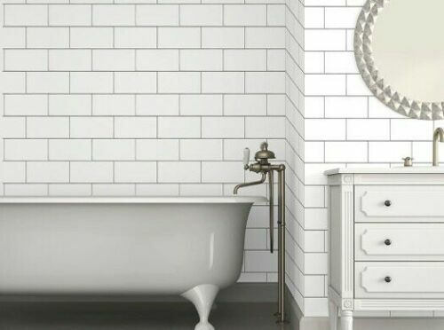 Devine Color White Textured Subway Tile Peel Stick Removable Wallpaper For Sale Online Ebay