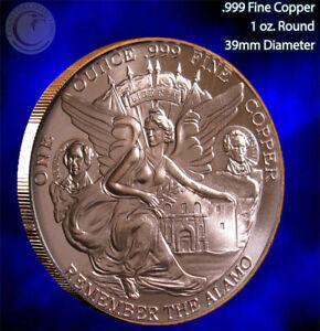 Texas Commemorative 1 oz copper round