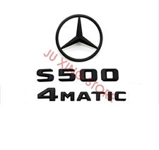 BLACK REAR BOOT TRUNK LETTER EMBLEM BADGE FOR MERCEDES BENZ W220 S CLASS S55 AMG