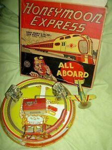Marx Honeymoon Express Tin Toy Windup Train