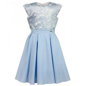 209cde2b3913 Details zu AL-DA Mädchen Kleid Festlich Hochzeit Jugendweihe Einschulung  Blumenmädchen Blau