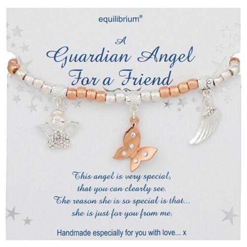 Equilibrio ángel guardián para amigo pulsera con dijes de estiramiento para caber