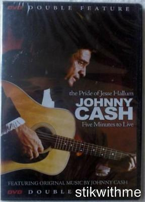 NEW Johnny Cash - the Pride of Jesse Hallum  Five Minutes to Live  DVD slim case