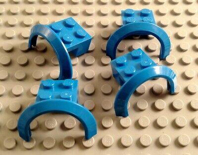LEGO Lot of 4 Dark Bluish Gray 2x4 Car Vehicle Mudguards