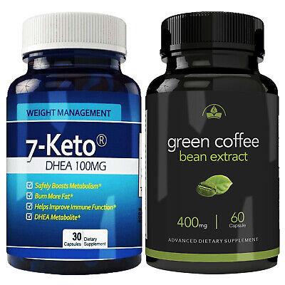 7 Keto Dhea 100 Mg Green Coffee Bean Fat Burn Diet 90 Caps Combo Free Shipping Ebay
