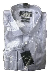 16 5 Collar Austin Reed Mens Long Sleeved Slim Fit Non Iron Formal Shirt Ebay