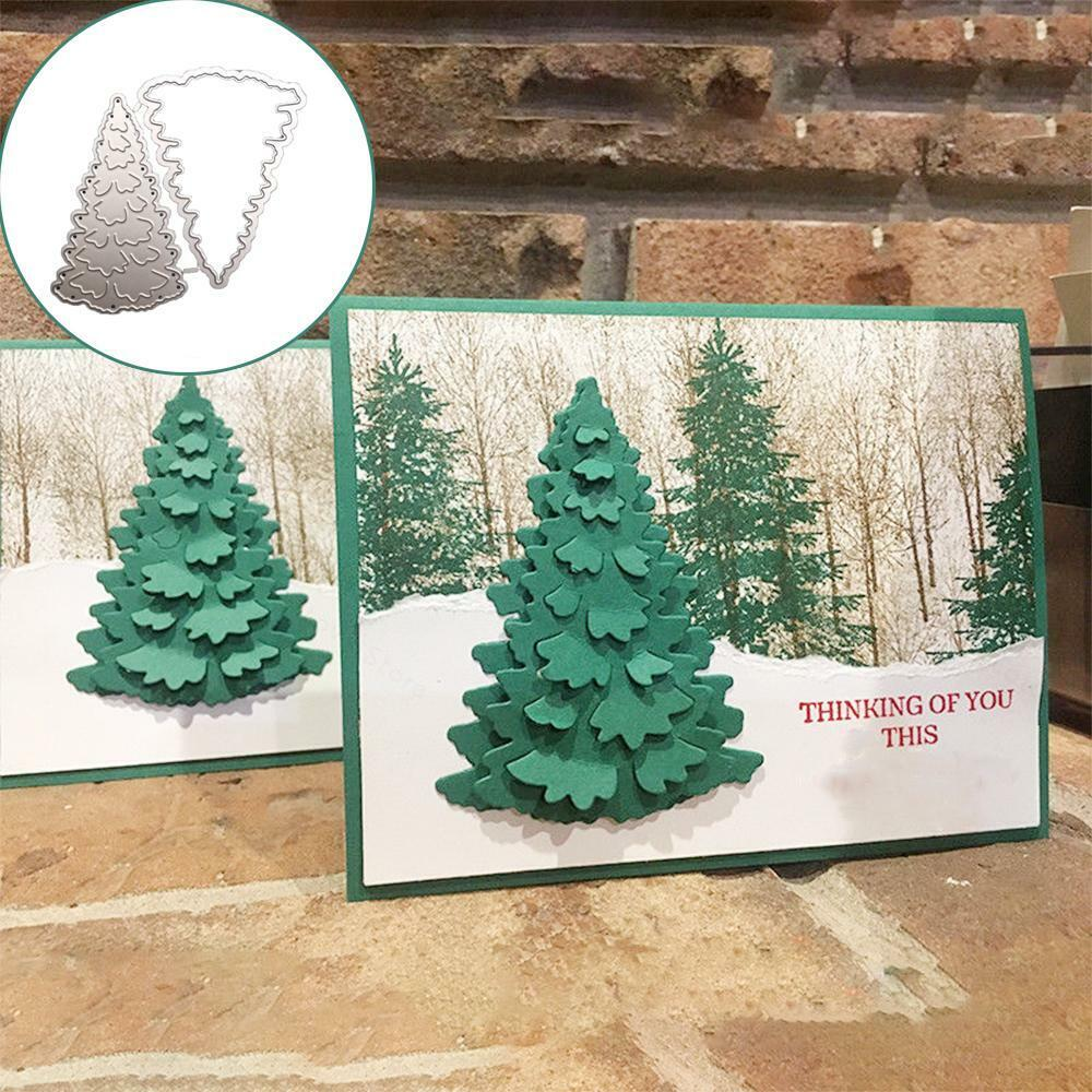 TREES------#30-------Punchies---christmas---Cricut Die Cuts---- Worldwide