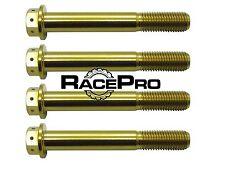 RacePro - 4x Gold Race Drilled Titanium Caliper Bolt - Suzuki GSXR1000 K5 - K6