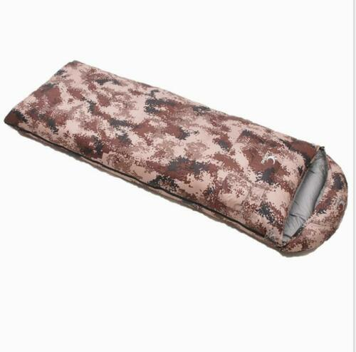 Adult Army climbing sleeping bag White duck down warm camo thicken fashion sport