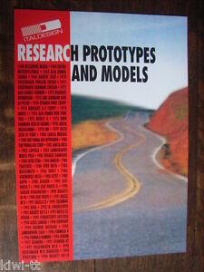"""Ital Design """"Research prototypes and models"""" Prospekt / Brochure / Depliant 1998 - Bergkamen, Deutschland - Ital Design """"Research prototypes and models"""" Prospekt / Brochure / Depliant 1998 - Bergkamen, Deutschland"""