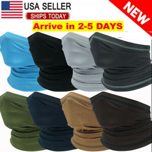 Cooling Neck Gaiter Tube Scarf Face Mask for Motorcycle Cycling Hunting Bandana