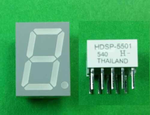 5601 Display 7 segment Green LED Common Anode dim.17.02x12,5 HDSP