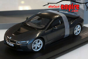 Paragon Models 1 18 Bmw I8 Sophisto Grey W Frozen Grey Lhd