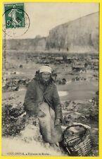 cpa Rare 80 - AULT (Somme) ONIVAL Métier PÊCHEUSE de MOULES Fisher Mussels