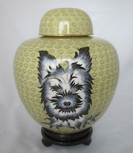 9-034-Chinese-Beijing-Cloisonne-Cremation-Black-and-White-Yorkie-New