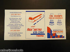 1983-84 Indianapolis Checkers schedule
