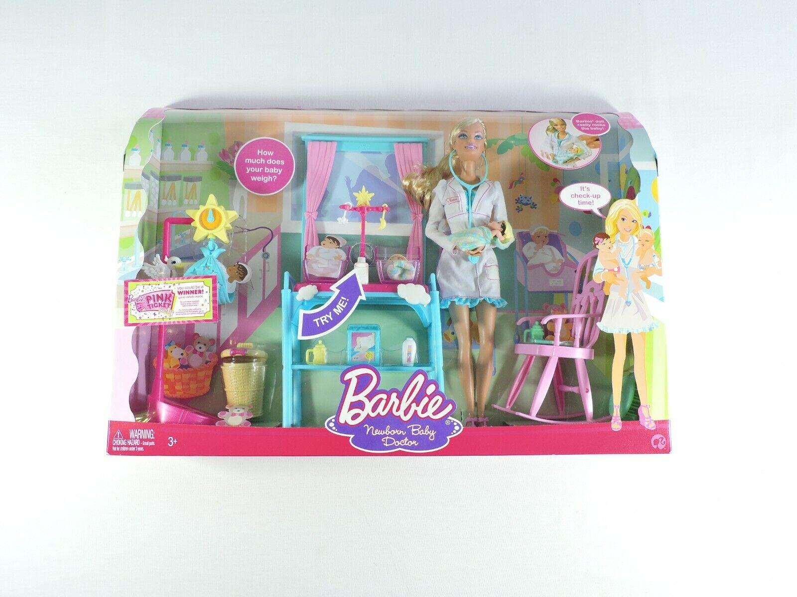 Barbie Bebé recién nacido médico Deluxe Set 2 bebés 2008 Mattel puedo ser.. Sellado uo