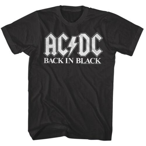 ACDC Back in Black Album Cover Men/'s T Shirt Rock Band Vintage Tour Music Merch