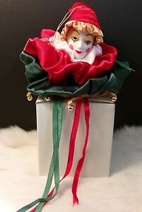 Rare Vintage Ebeling And Reuss Porcelain Clown Collectible Ornament Gift